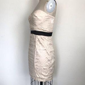 bebe Dresses - Bebe M lace strapless dress